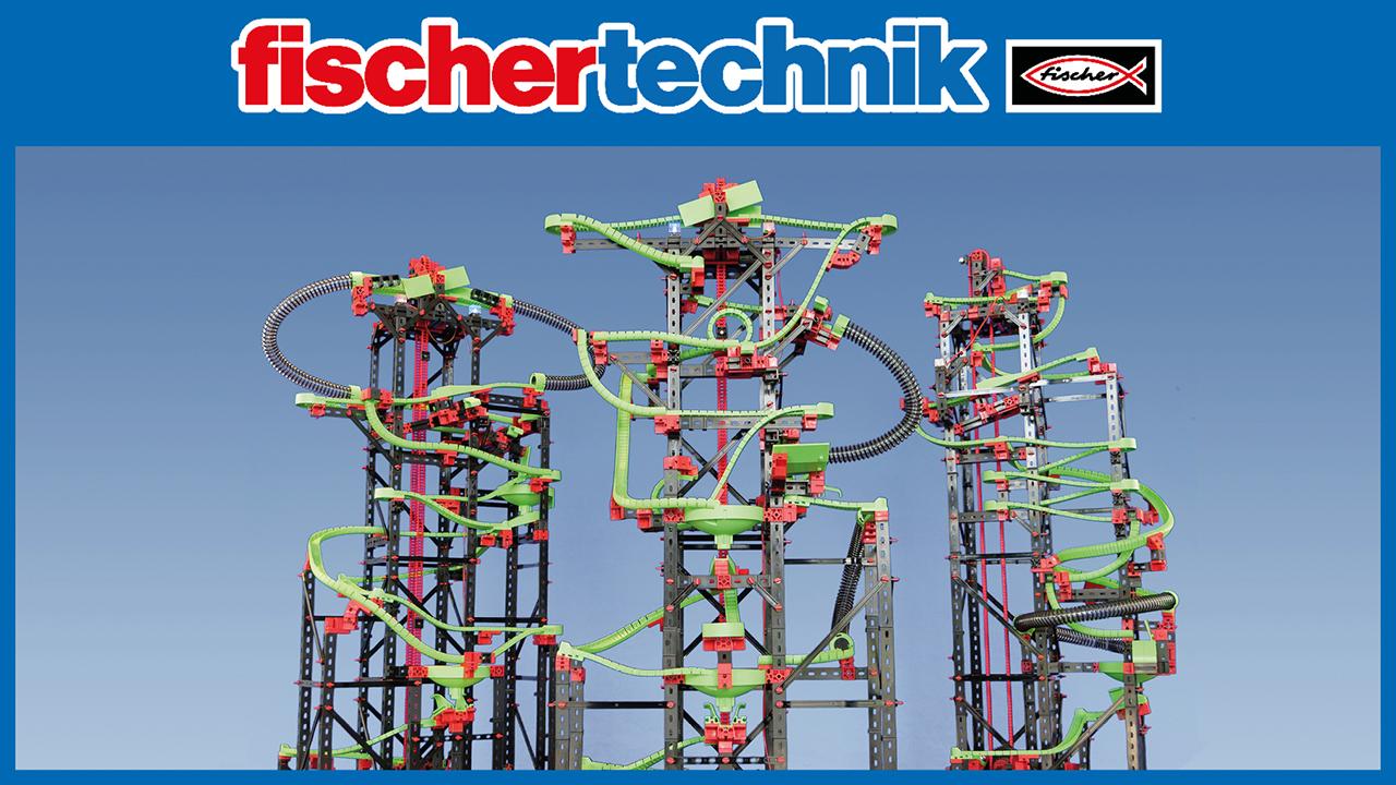 Kugelbahn T NEW Fischer Technik 544619 FISCHER 544619 PROFI Dynamic XXL