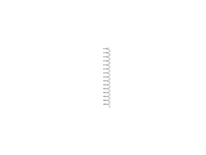 Pressure spring 0.3x5x45, silver