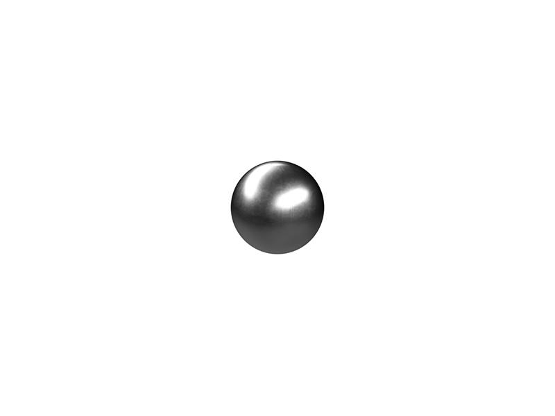 Steel ball, silver
