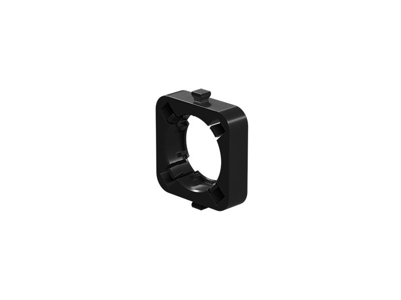 Linsenhalter Bikonvex, schwarz