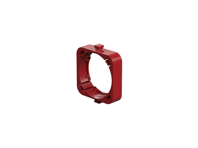 Lens holder plano-convex, red