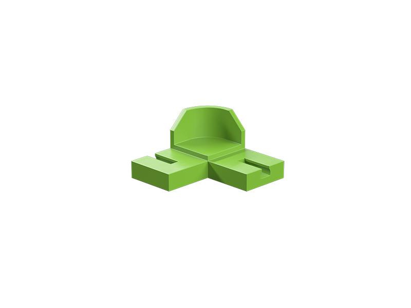 90° curve, green