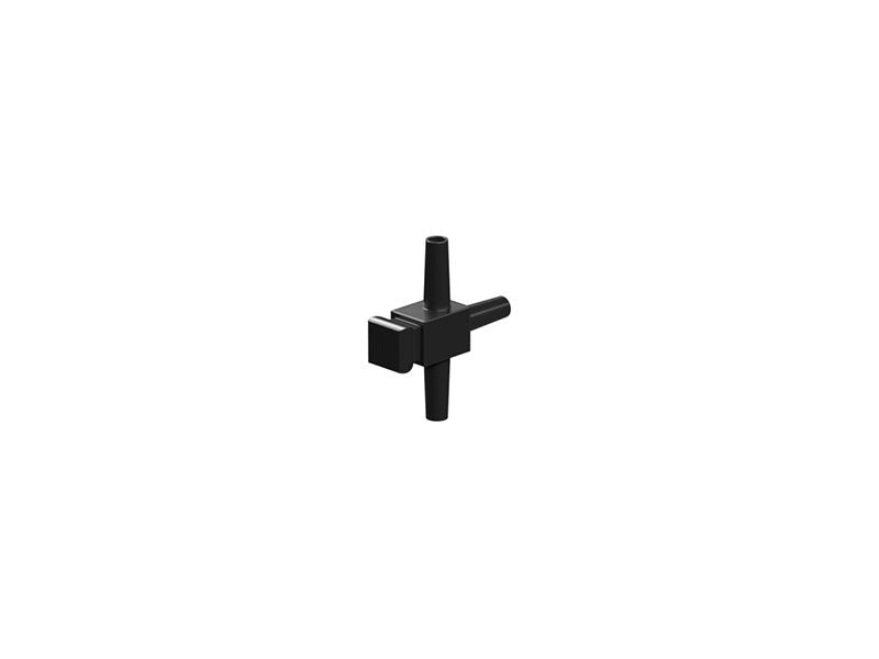 T de distribución neumática, negro