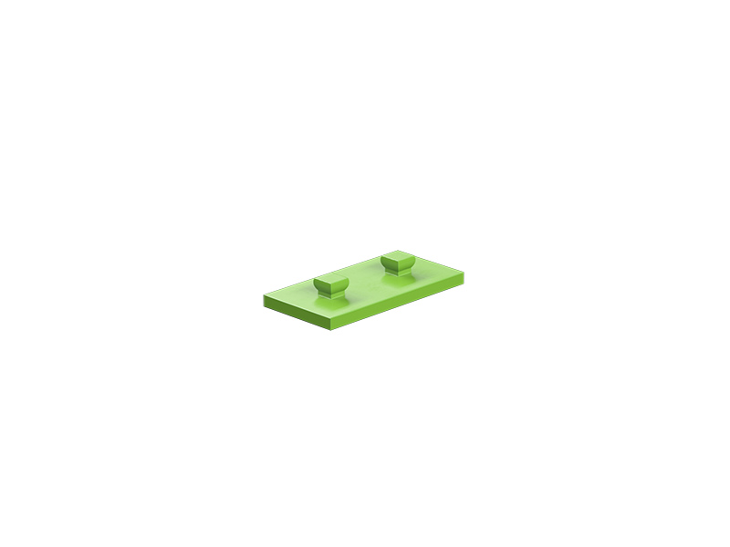 Mounting plate 15x30, green