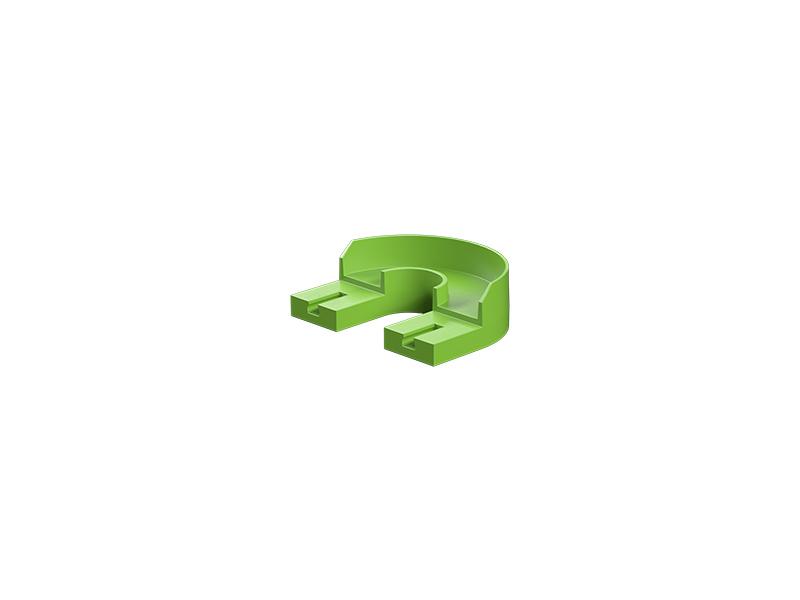 180° curve, green