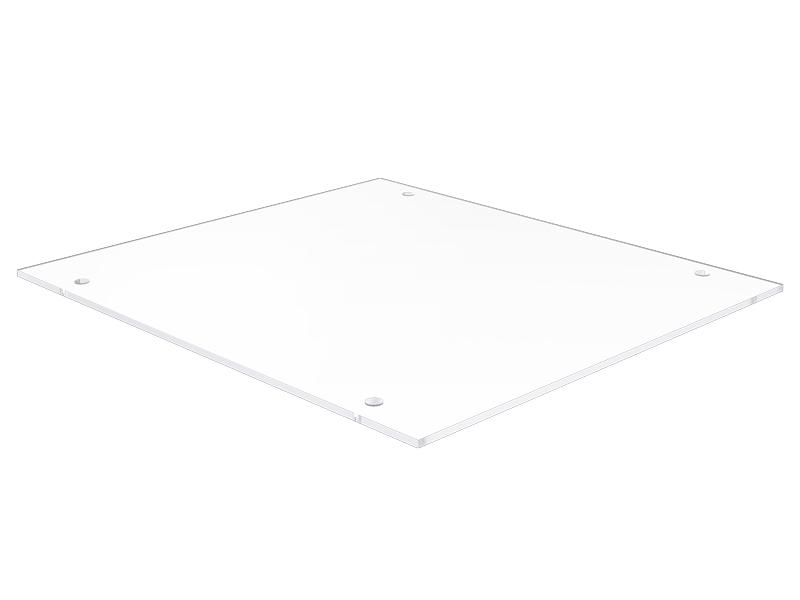 Plastic plate 170x151x2, transparent
