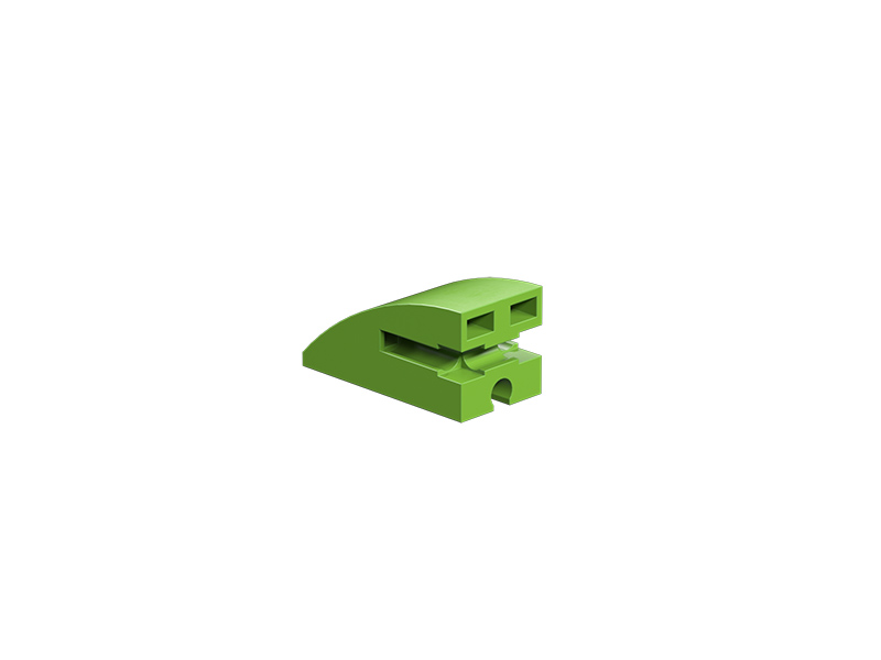 Round building block 15x30, green