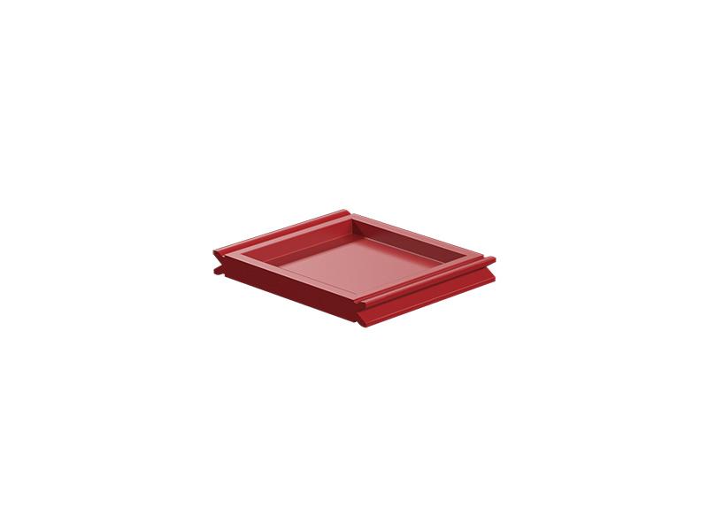 Panel plano 30, rojo