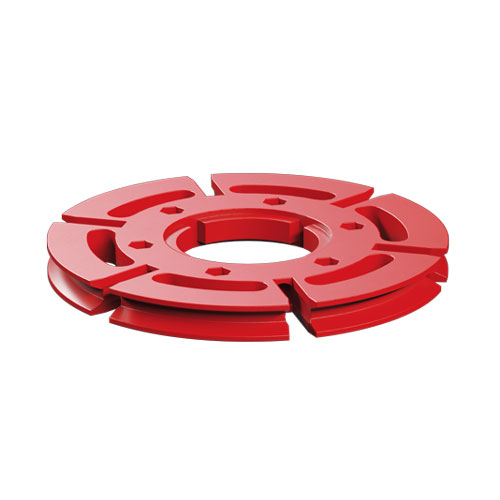 Large pulley 60, red