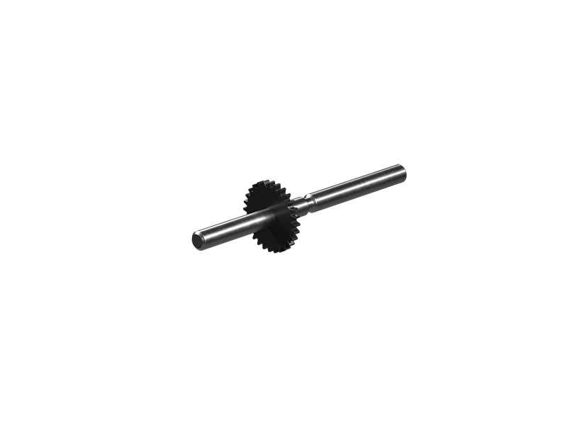 Mini mot axle 60 with gear wheel T28, black