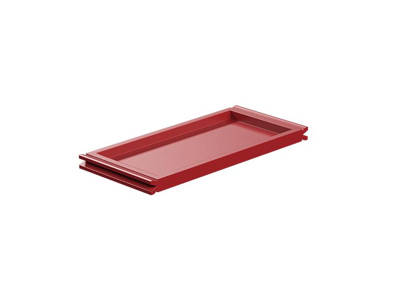 Panel plano 60, rojo