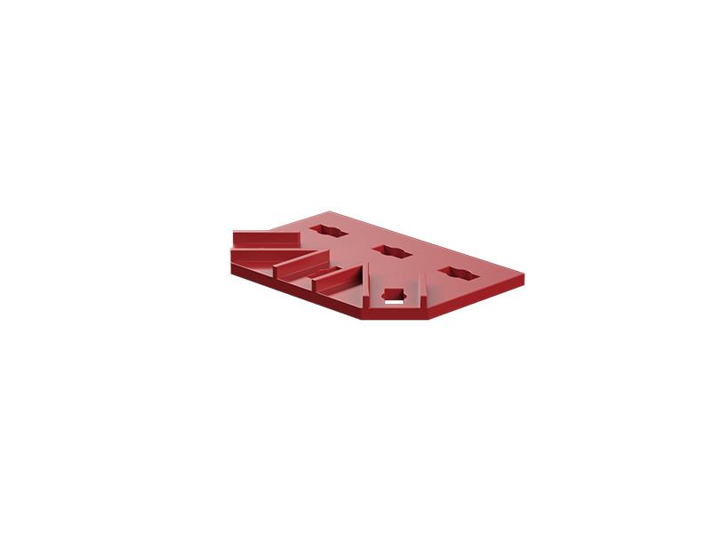 Doppelknotenplatte, rot