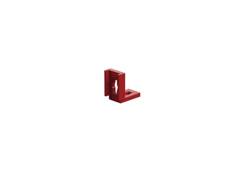 Winkellasche, rot