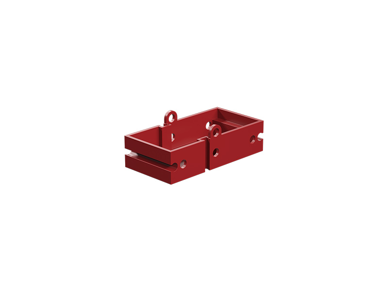 Seat building block, red