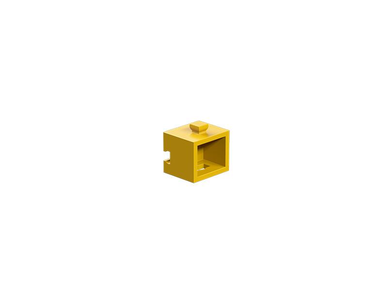 Soporte de riostra de esquina, amarillo