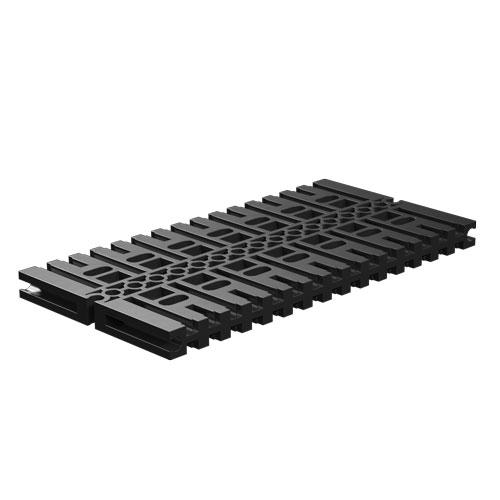 Placa base de construcción 120x60, negro