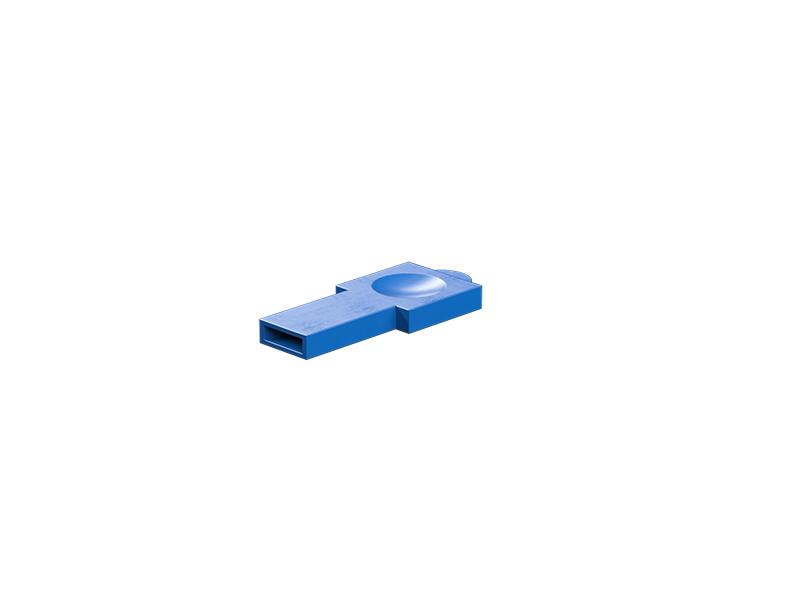 Sujetador de remaches, azul