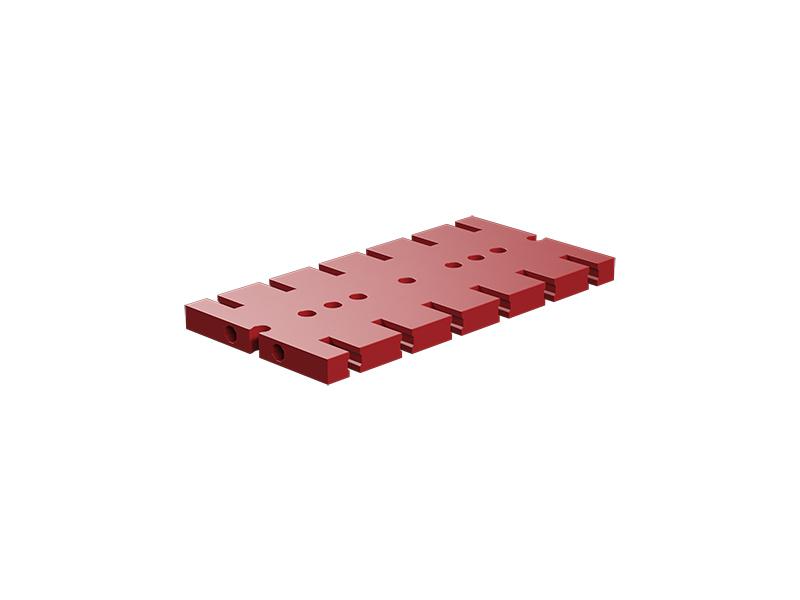 Placa base de construcción 90x45, rojo