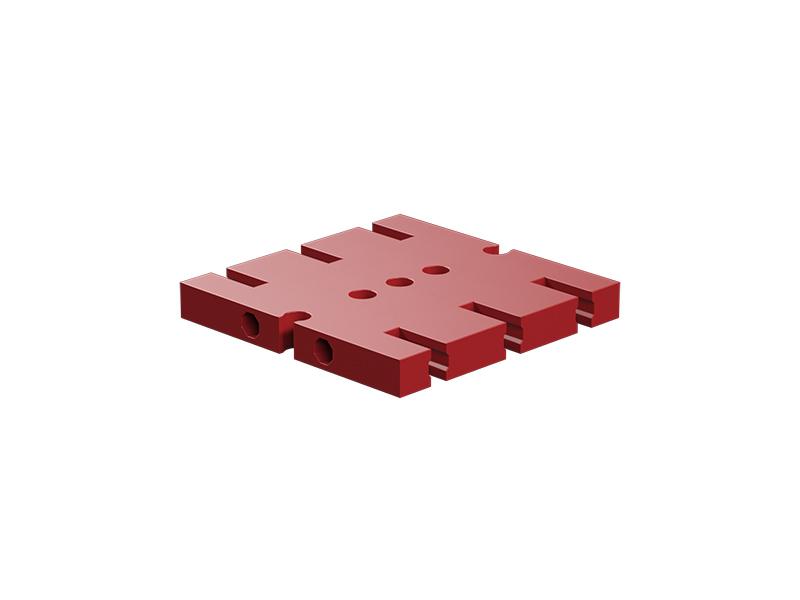 Placa base de construcción 45x45, rojo