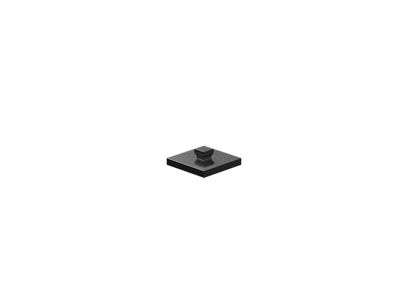 Mounting plate 15x15, black