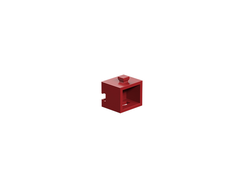 Statics building block, red