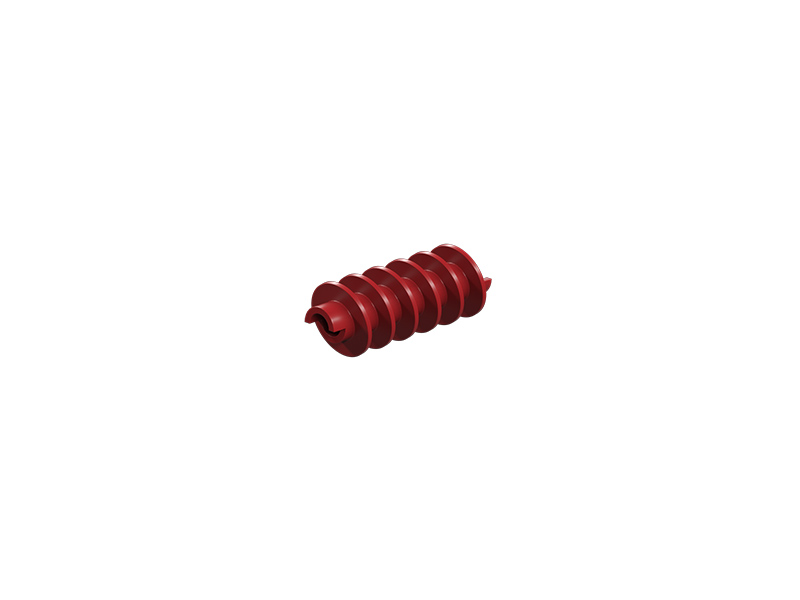 Worm m=1,5, red