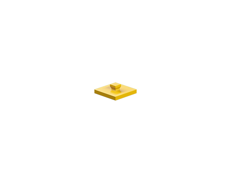 Mounting plate 15x15, yellow