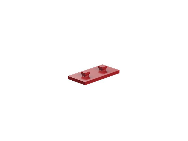 Mounting plate 15x30, red