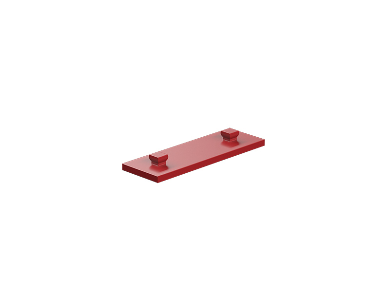Mounting plate 15x45, red
