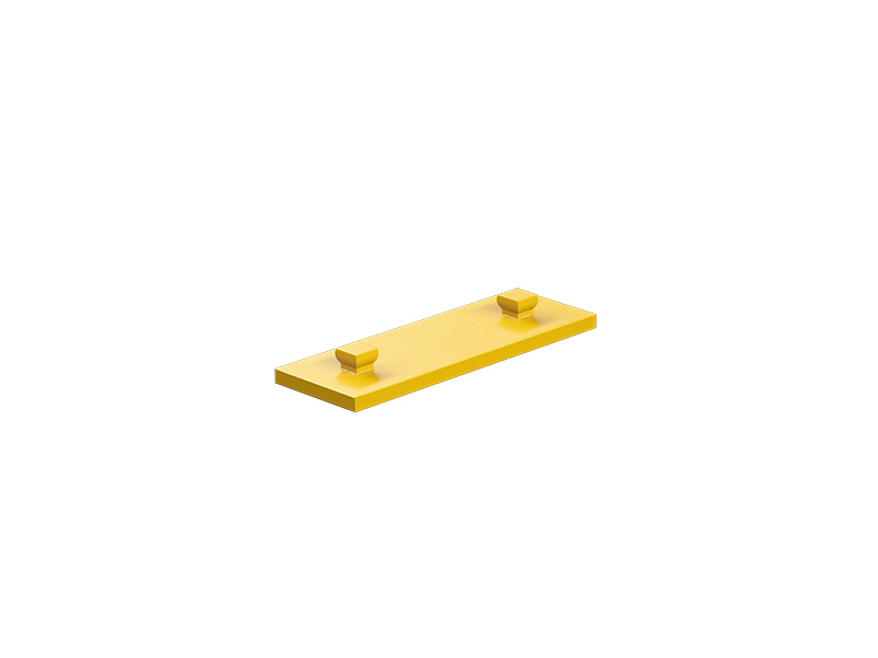 Mounting plate 15x45, yellow