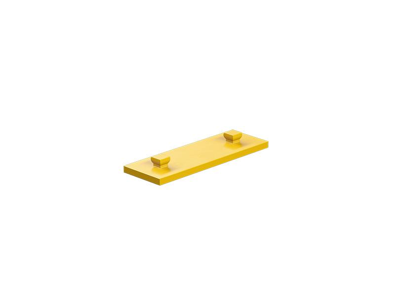 Bauplatte 15x45, gelb