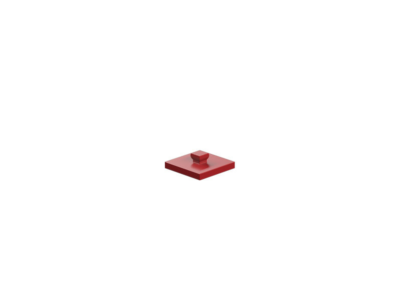 Mounting plate 15x15, red