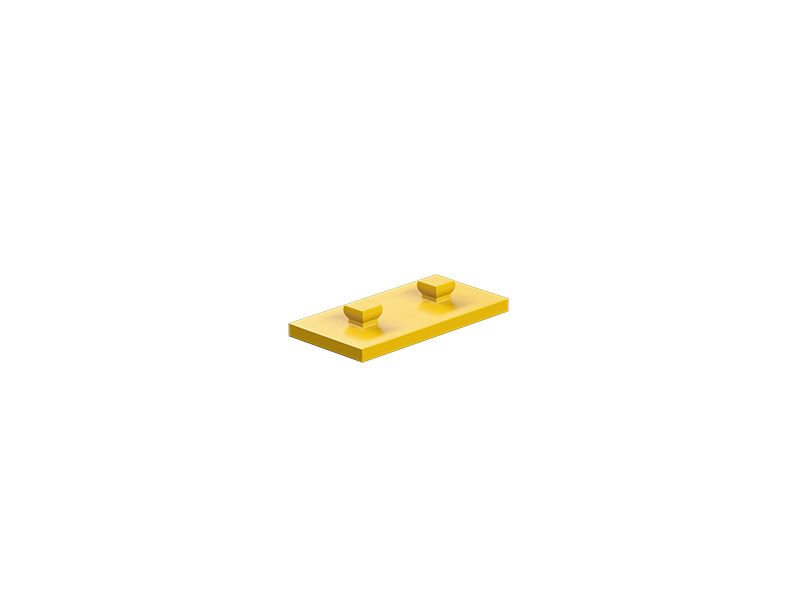 Mounting plate 15x30, yellow