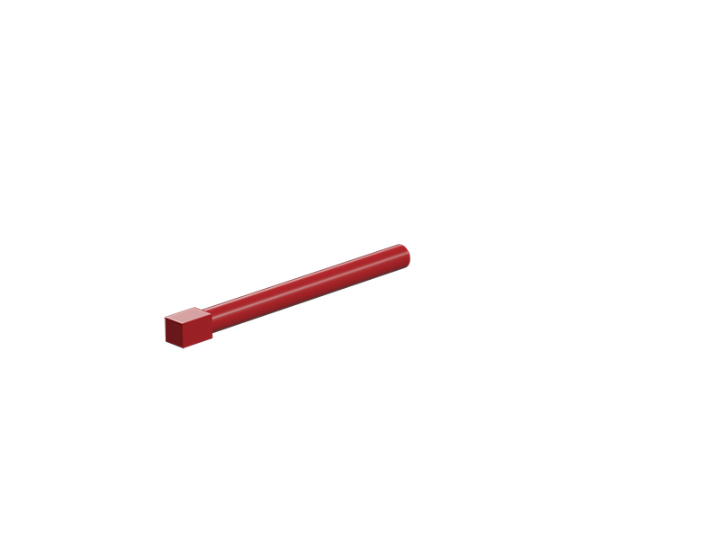 Axle 50 with square, red
